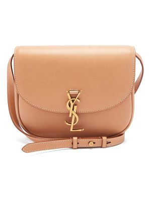 Saint Laurent kaia ysl-plaque leather cross-body bag