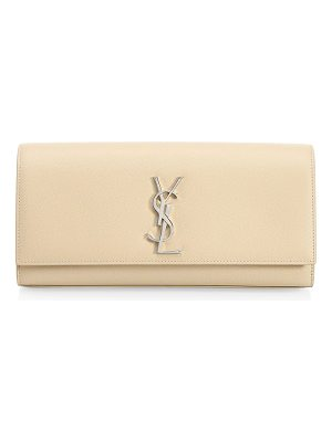 SAINT LAURENT Kate Leather Clutch