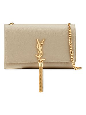 Saint Laurent Kate Medium YSL Monogram Grain de Poudre Crossbody Bag