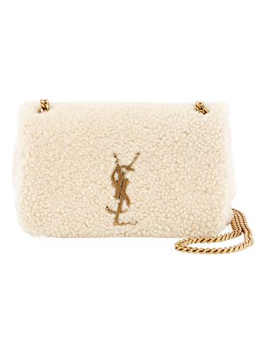 Saint Laurent Kate Monogram YSL Small Shearling Crossbody Bag