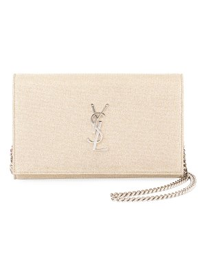 Saint Laurent Kate Monogram YSL Sparkle Wallet on Chain