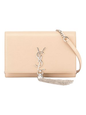 Saint Laurent Kate Monogram YSL Tassel Wallet on a Chain
