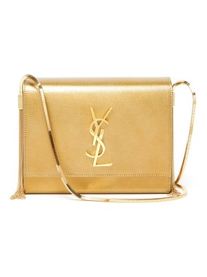 Saint Laurent kate small metallic-leather shoulder bag