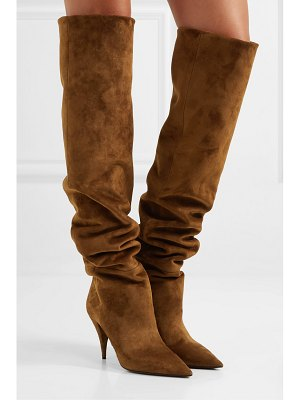 Saint Laurent kiki suede over-the-knee boots
