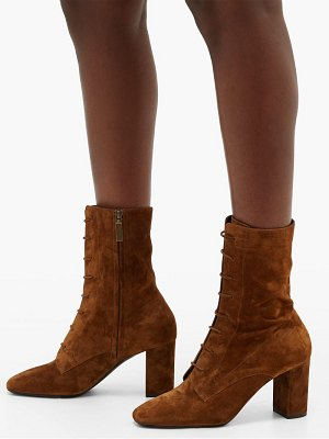 Saint Laurent laura lace-up suede boots