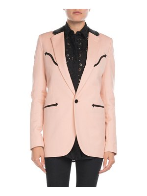 Saint Laurent Leather-Trim Western Blazer