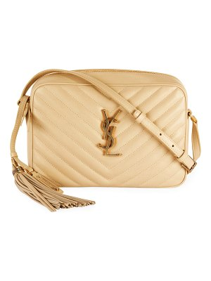 Saint Laurent Lou Medium Monogram YSL Calf Crossbody Bag