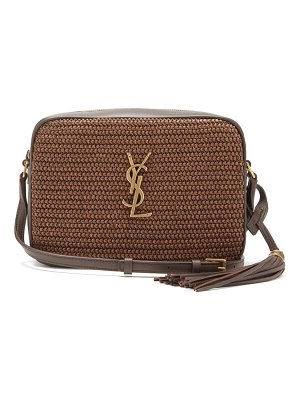 Saint Laurent lou medium raffia cross-body bag