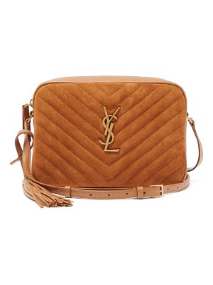 Saint Laurent lou medium ysl-logo quilted-suede cross-body bag