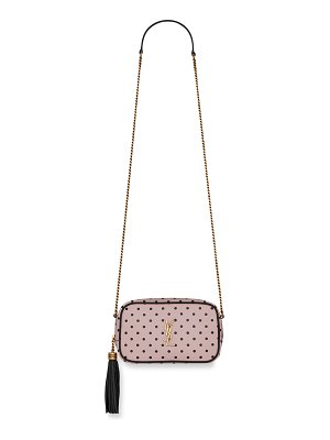 Saint Laurent Lou Mini Polka Dot Camera Crossbody Bag