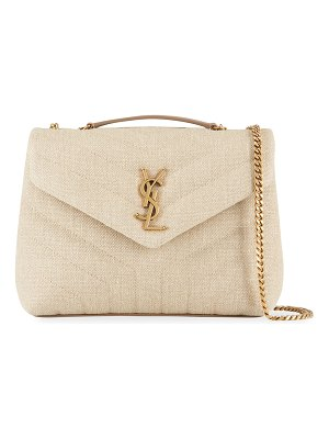 Saint Laurent Loulou Small Linen YSL Shoulder Bag