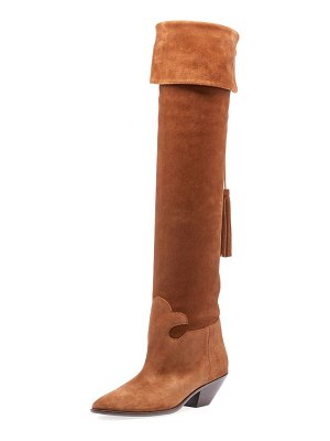 Saint Laurent Lukas West Wyatt Over-the-Knee Boot
