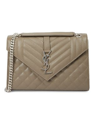 Saint Laurent medium envelope monogram matelassé leather shoulder bag