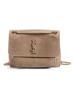 Saint Laurent medium niki suede shoulder bag