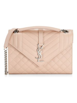 Saint Laurent medium quilted envelope shoulder bag