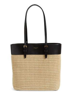 Saint Laurent medium shopping raffia tote