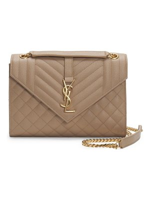 Saint Laurent medium tri-quilted envelope shoulder bag