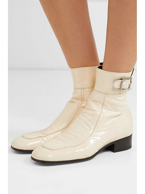 Saint Laurent miles patent-leather ankle boots