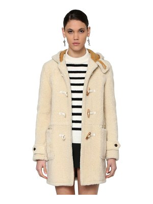 Saint Laurent Montgomery hooded shearling coat