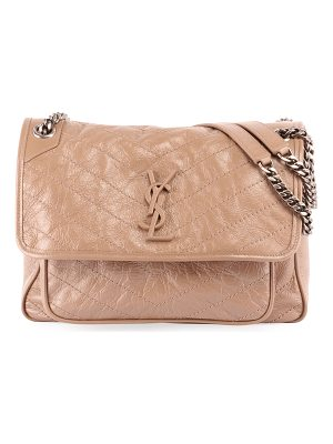 Saint Laurent Niki Medium Monogram Shiny Waxy Quilted Shoulder Bag