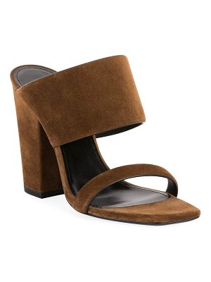 Saint Laurent Oak Suede Mule Sandals