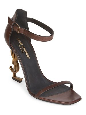 SAINT LAURENT Opyum Ankle-Strap Leather Sandals