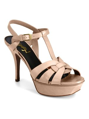 Saint Laurent tribute pantent leather sandals