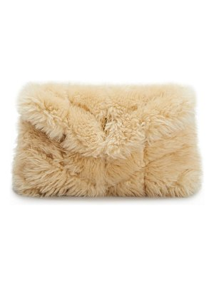 Saint Laurent Puffer Small Quilted Shearling Pouch Clutch Bag