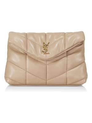 Saint Laurent puffy quilted leather clutch