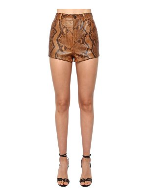 Saint Laurent Python high waist shorts