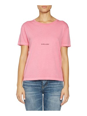 Saint Laurent rive gauche cotton t-shirt