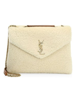 Saint Laurent lou lou shearling shoulder bag