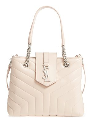 Saint Laurent small loulou matelasse leather shopper