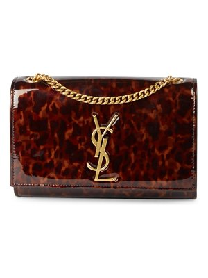 Saint Laurent small kate tortoise patent leather shoulder bag
