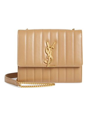 Saint Laurent small vicky leather wallet on a chain