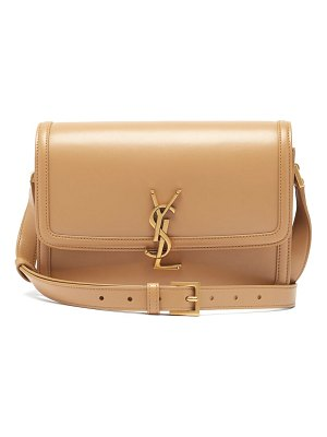 Saint Laurent solferino ysl-plaque leather shoulder bag