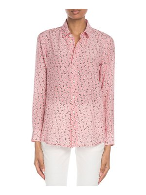 Saint Laurent Star-Print Classic Silk Blouse