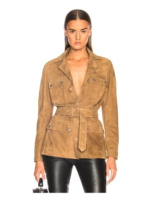 Saint Laurent Suede Belted Safari Jacket
