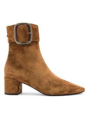 Saint Laurent Suede Joplin Buckle Ankle Boots