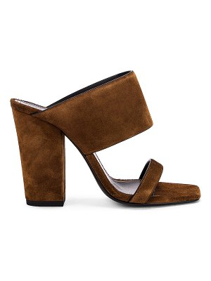 Saint Laurent suede oak mules