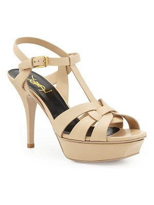 Saint Laurent Tribute Leather 75mm Sandals