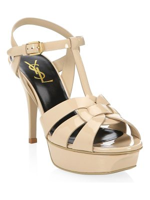Saint Laurent tribute 105 patent leather platform sandals