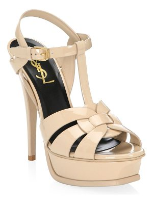 Saint Laurent tribute 75 patent leather platform sandals