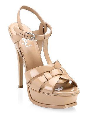 Saint Laurent tribute patent leather platform sandals