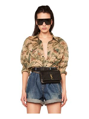 Saint Laurent Tropical Print Oversized Shirt