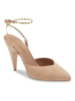 Saint Laurent chain pointed toe pump