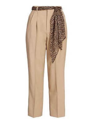 Saint Laurent wool & silk straight-leg pants
