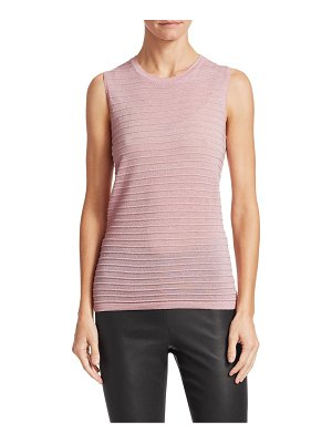 Saks Fifth Avenue collection ribbed sleeveless merino lurex top