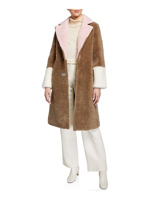 Saks Potts Febbe Long Shearling Skin Coat