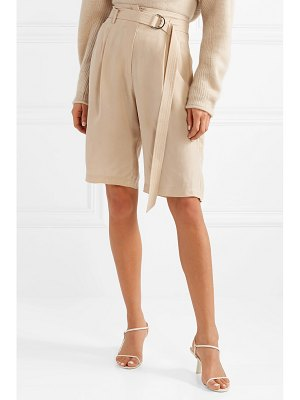 Sally Lapointe belted crepe shorts